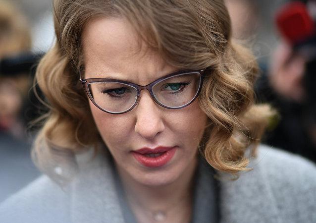 La candidata presidencial rusa Ksenia Sobchak