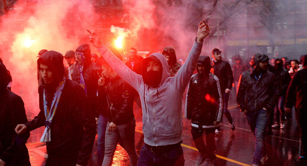 Hinchas del Olympique de Marsella
