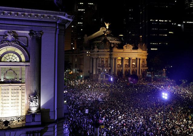 Manifestación en Río de Janeiro