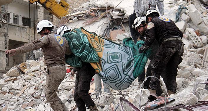 Miembros de Cascos Blancos en Siria