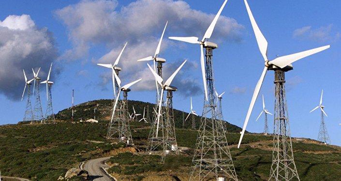 Planta de la energía eólica en España