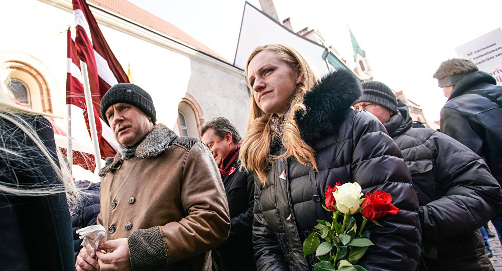 Marcha de los legionarios de Waffen-SS, Riga, Letonia