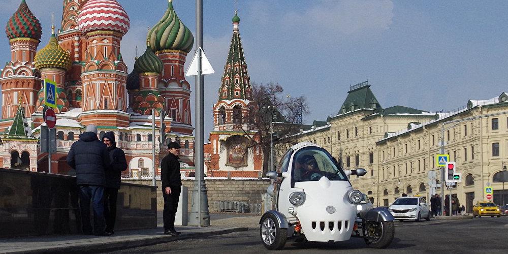 El prototipo del vehículo eléctrico de tres ruedas ruso