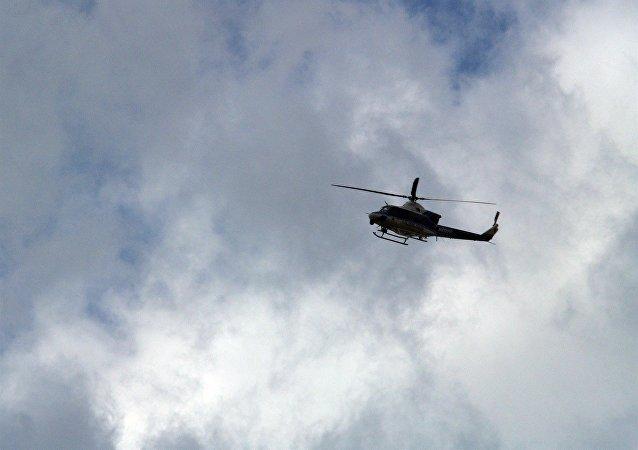 Un helicóptero policial en Washington, foto de archivo