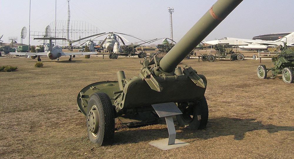 Un mortero M-240, foto de archivo