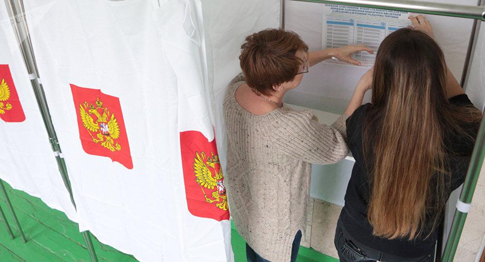 Un colegio electoral en Rusia, imagen referencial