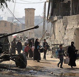 Civiles abandonaron Guta Oriental, el suburbio de Damasco, la capital de Siria