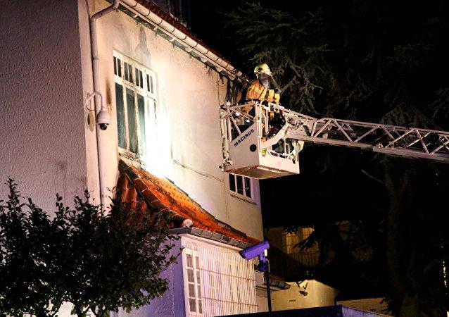 La situación en la embajada turca en Copenhague