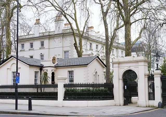 La embajada de Rusia en Londres, Reino Unido (archivo)