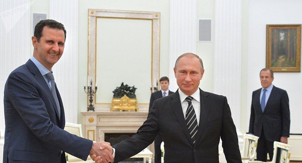 Presidente de Siria, Bashar Asad, y presidente de Rusia, Vladímir Putin (archivo)