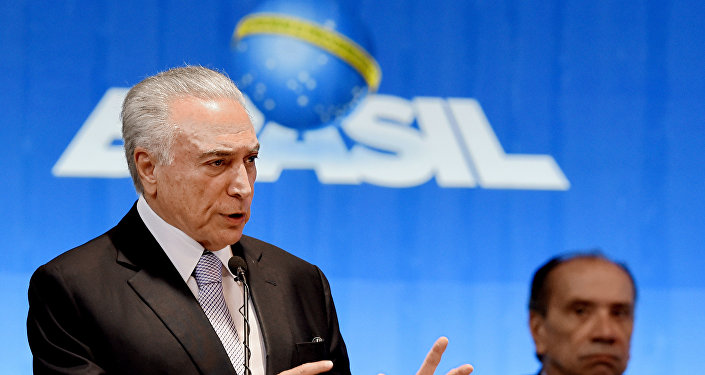 Michel Temer, el presidente brasileño en el Foro Mundial del Agua