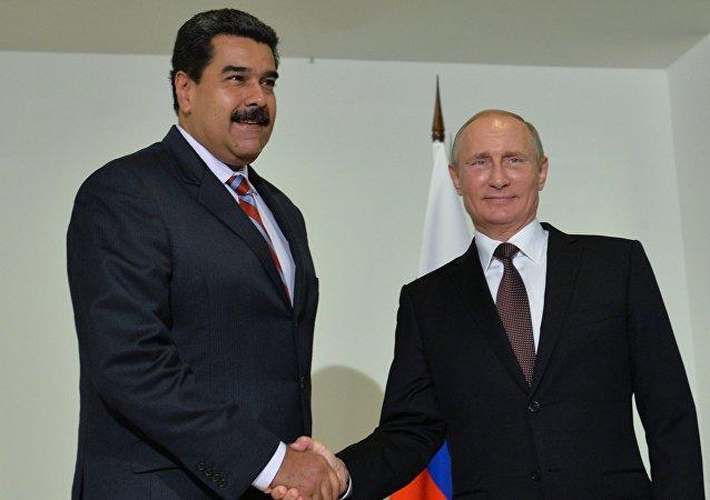 Presidente de Venezuela, Nicolás Maduro, y presidente de Rusia, Vladímir Putin