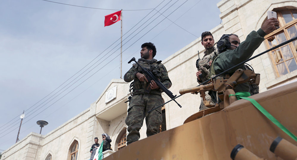 Tanque turco en Afrín