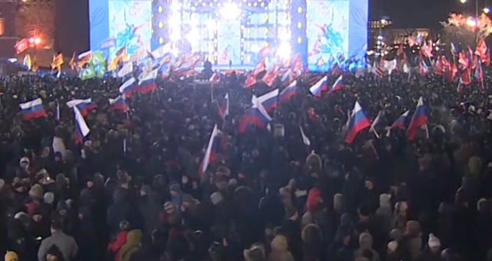 'El hombre que levanta el país': los partidarios de Putin festejan su triunfo