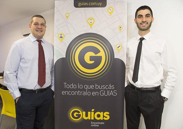 Creadores de GUIAS, Daniel Guitelman y Marcos Rowinski en las oficinas de la empresa