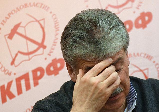Pável Grudinin, empresario y candidato por los comunistas a las elecciones presidenciales de Rusia 2018