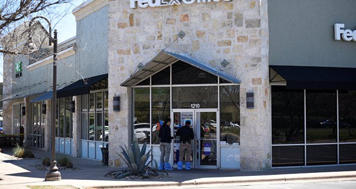 Un centro logístico de la compañía de mensajería FedEx, junto al aeropuerto de Austin