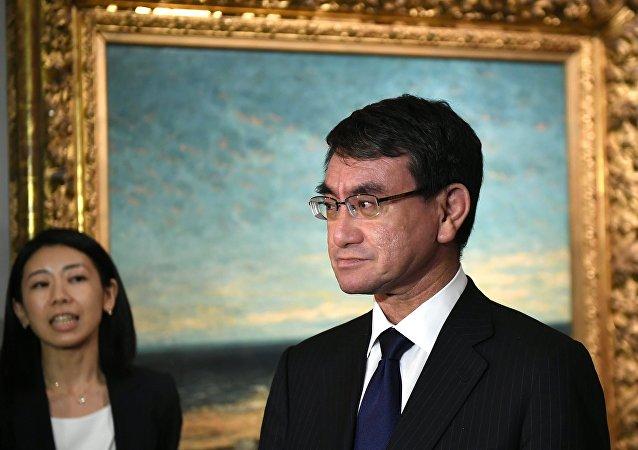 Taro Kono, ministro de Asuntos Exteriores de Japón