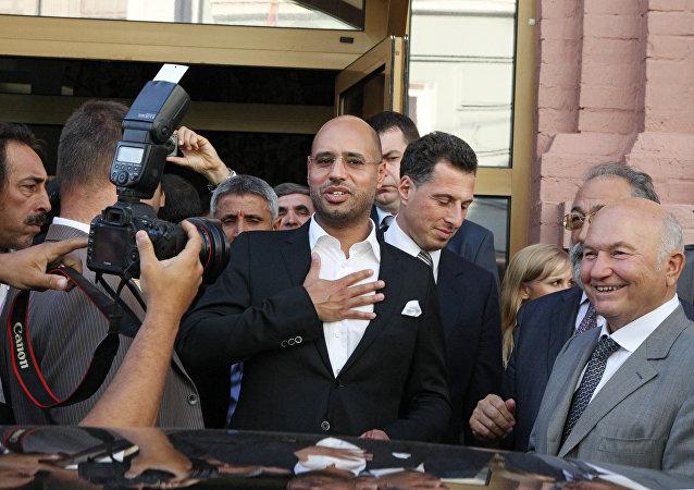 Saif Islam Gadafi, hijo del exlíder libio Muamar Gadafi (archivo)