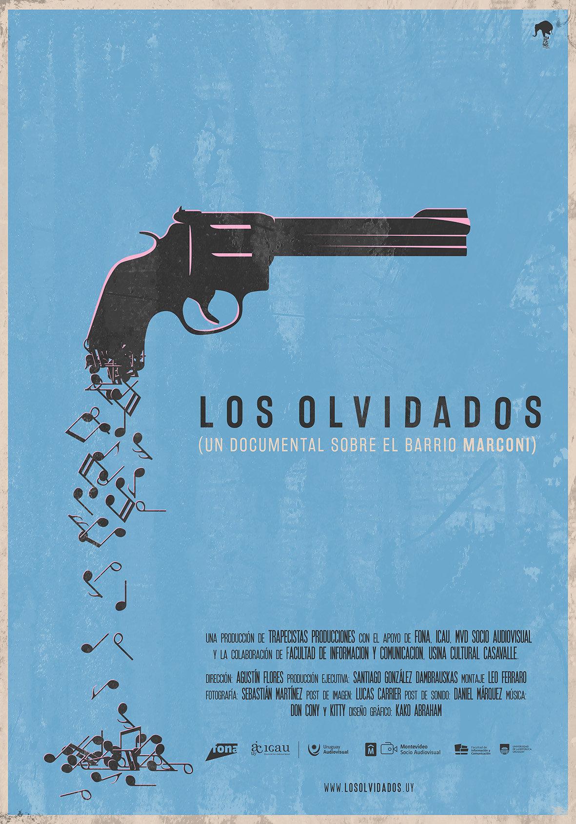 Afiche del documental Los Olvidados, sobre la problemática que enfrentan los habitantes del barrio Marconi de Montevideo