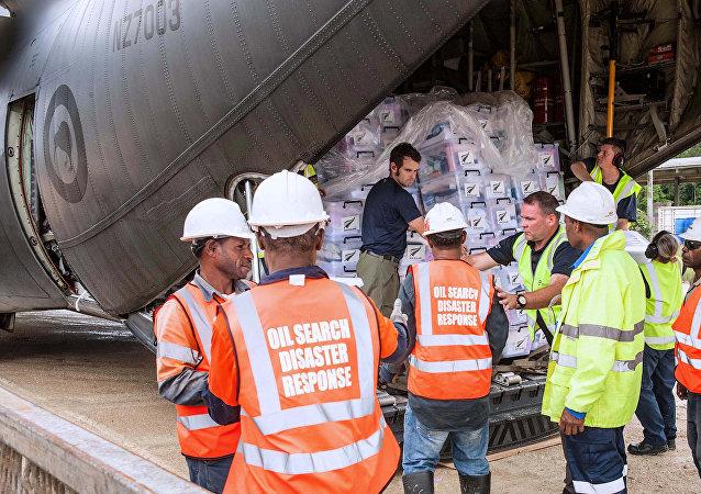 Ayuda para la población de Papúa Nueva Guinea, afectada por un fuerte terremoto