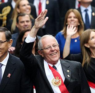 El presidente de Perú, Pedro Pablo Kuczynski y el vicepresidente peruano, Martín Vizcarra, el reemplazante constitucional de Kuczynski