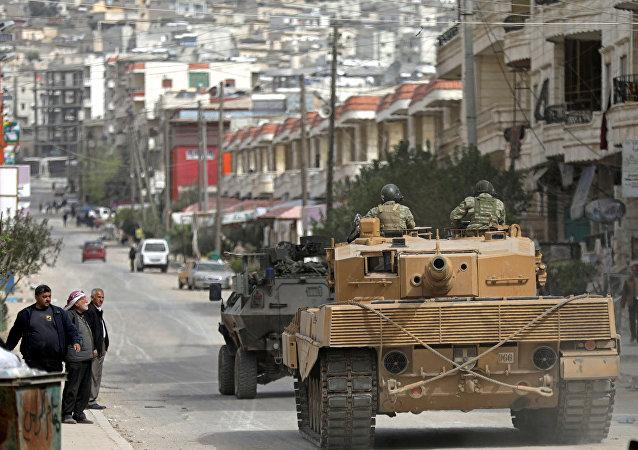 Tanques turcos en Afrín, Siria