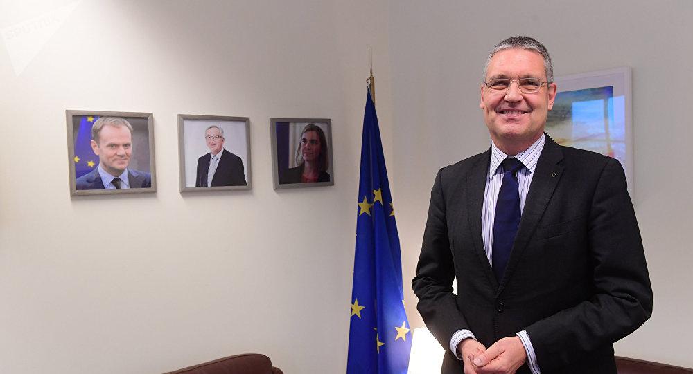 l embajador de la Unión Europea en Rusia, Markus Ederer