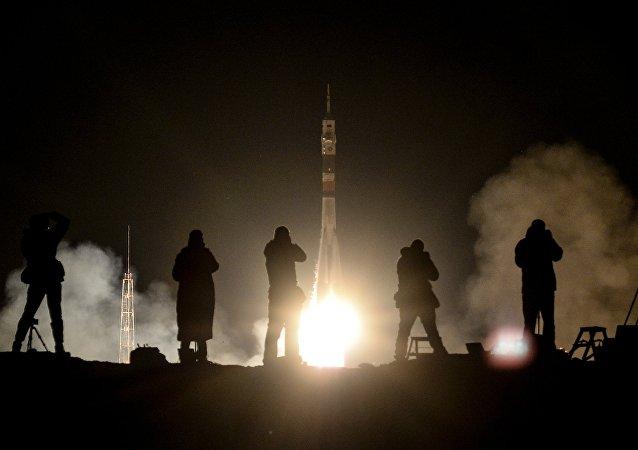 El lanzamiento de un cohete Soyuz