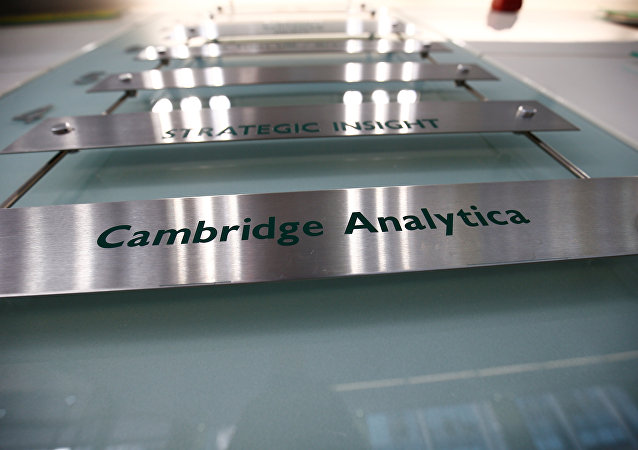 El logo de Cambridge Analytica