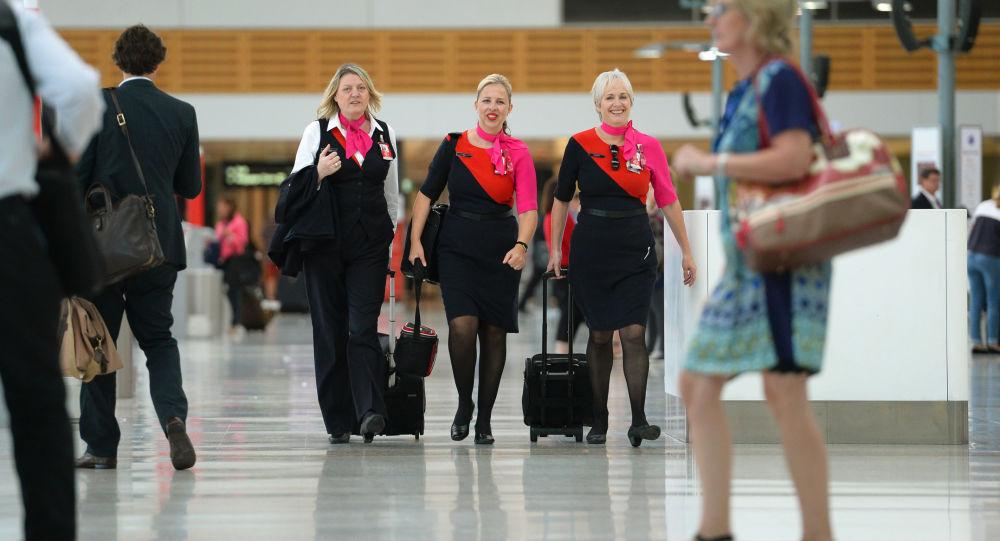 Azafatas de la compañía aérea Qantas