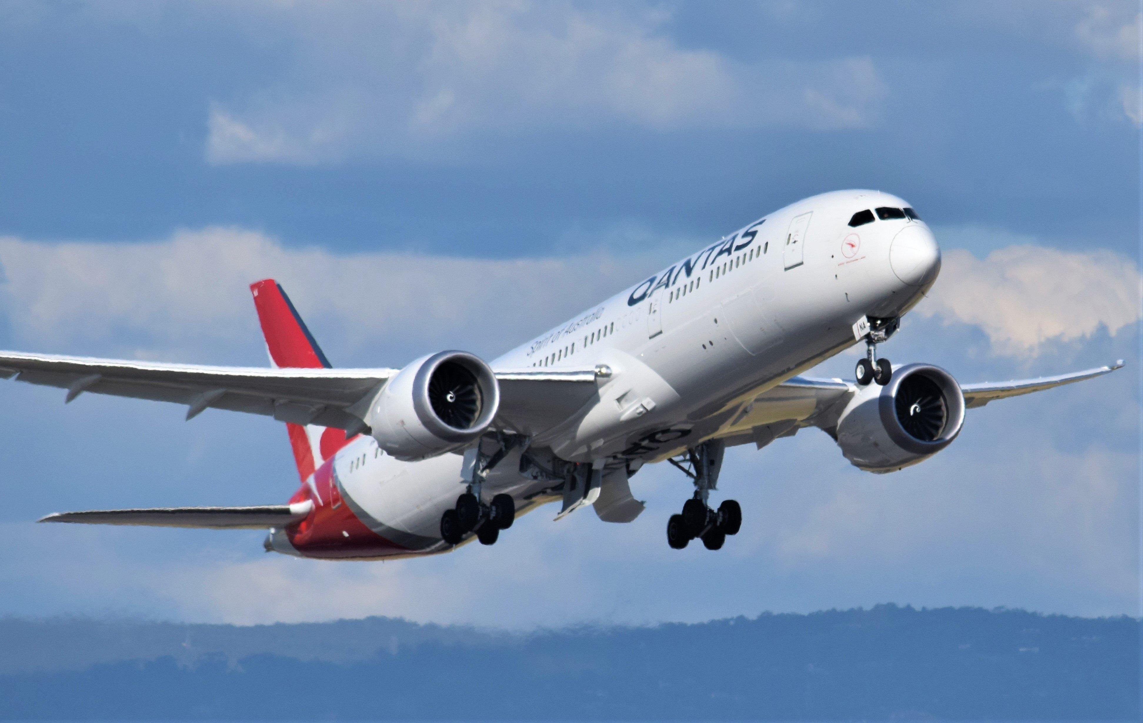 El Boeing-787 Dreamliner de la aerolínea Qantas