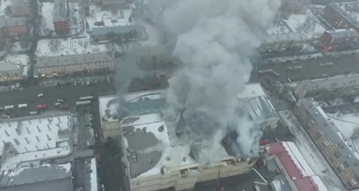 Las impactantes imágenes desde el lugar de la tragedia en Kémerovo