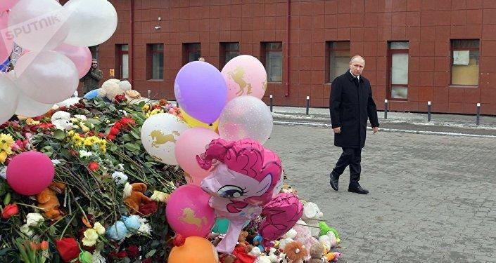 Vladímir Putin, presidente de Rusia, en Kémerovo