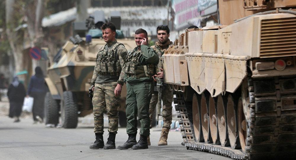 Militares turcos en Afrín (archivo)
