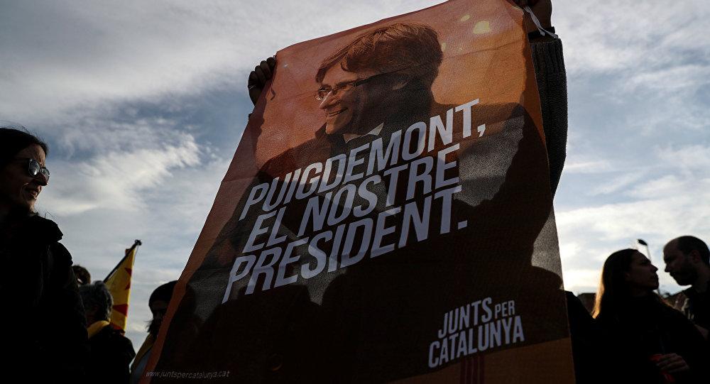 Protestas en Cataluña tras la detención de Carles Puigdemont