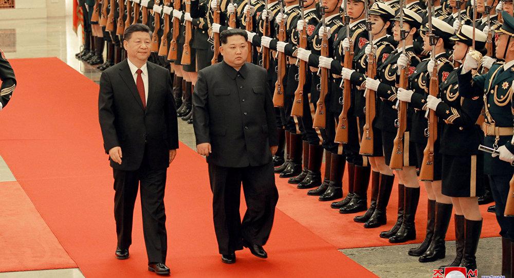 El presidente chino, Xi Jinping, y el líder norcoreano, Kim Jong-un