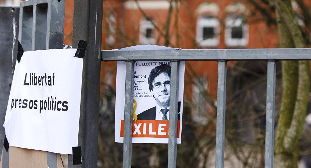 El retrato del expresidente catalán Carles Puigdemont (archivo)