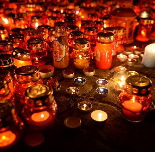 Homenaje a las víctimas del incendio en la ciudad rusa de Kémerovo