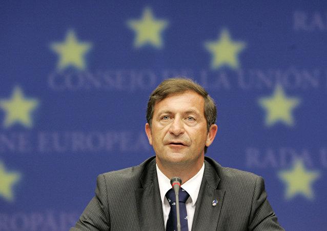 Karl Erjavec, el ministro de Asuntos Exteriores de Eslovenia