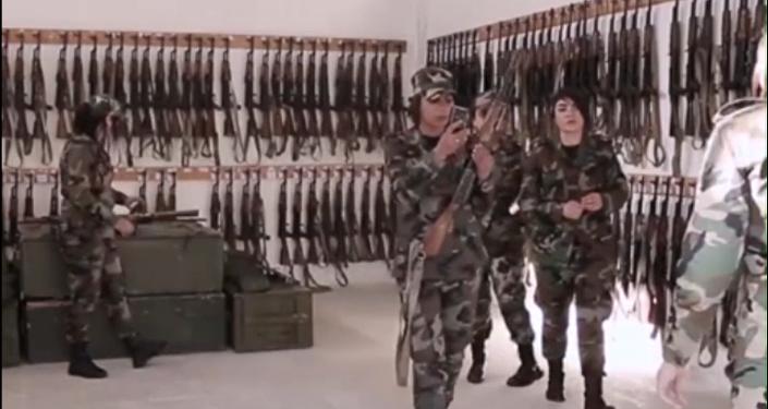 Trenzas de Fuego: un destacamento de mujeres sirias, en defensa de Guta Oriental