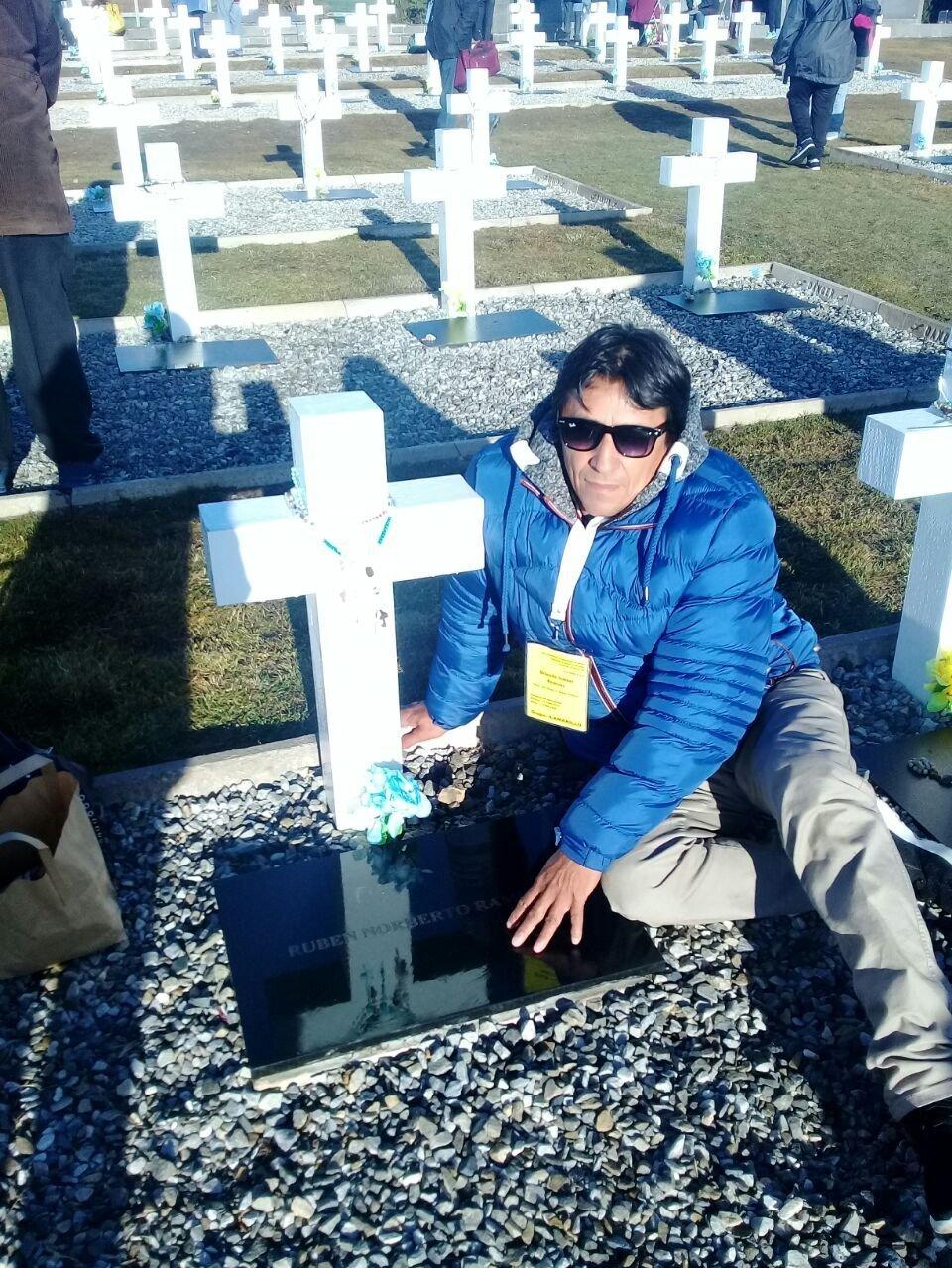 Orlando Ramírez, familiar del combatiente argentino caído en Malvinas Rubén Norberto Ramírez