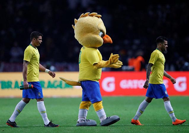 Canarinho, la mascota de la selección brasileña de fútbol