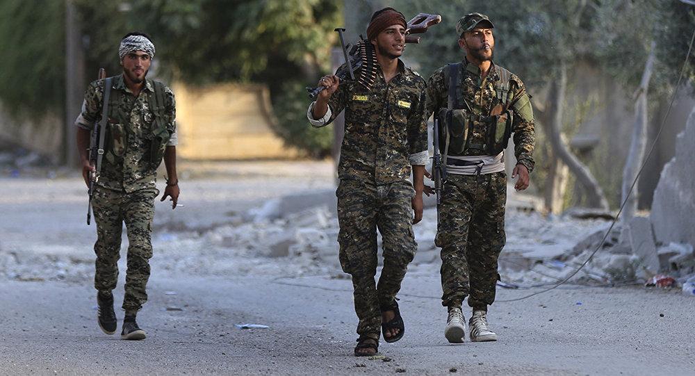 Combatientes de las Fuerzas Democráticas Sirias (archivo)