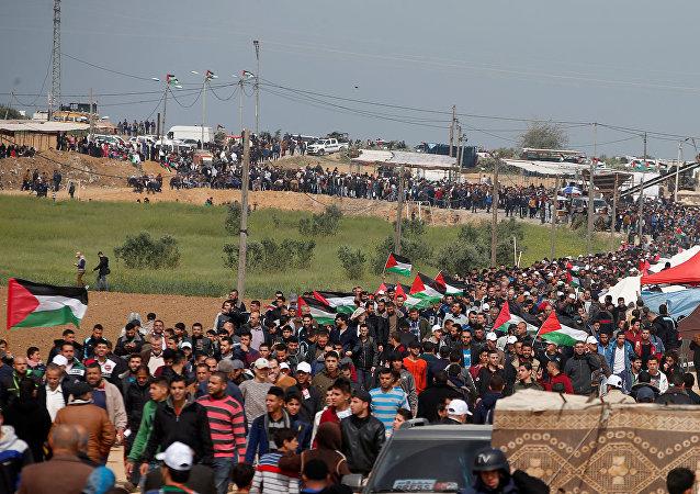 Protestas en Franja de Gaza (archivo)