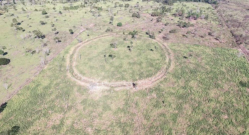 Uno de los geoglifos encontrados en la Cuenca del Amazonas
