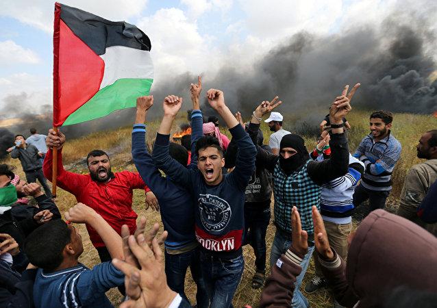 Protestas en Franja de Gaza
