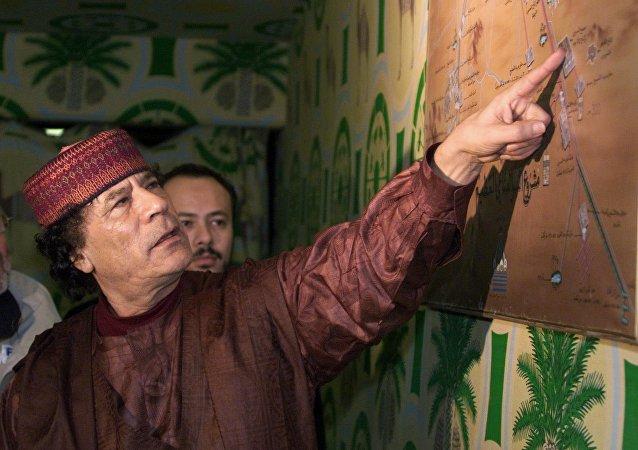 Muamar Gadafi, expresidente de Libia