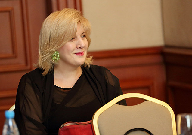 Dunja Mijatovic, la exrepresentante de la OSCE para la libertad de expresión