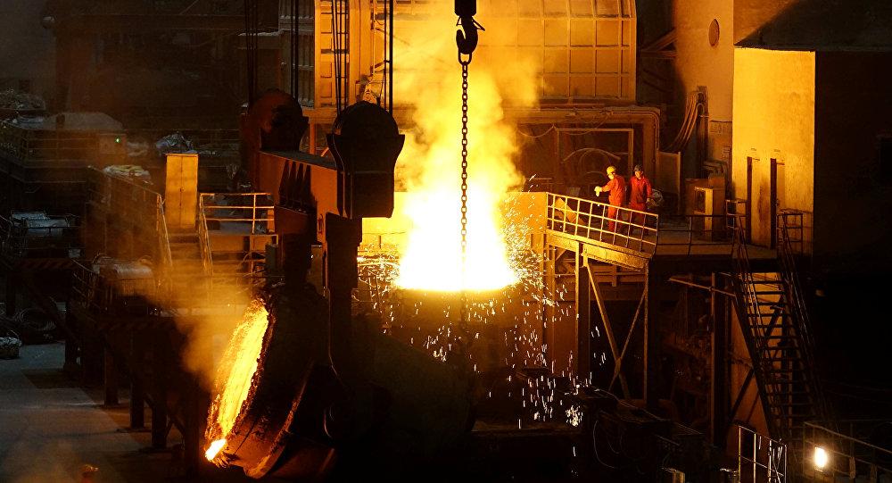 Producción de acero en China